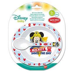 Stor dětská plastová sada nádobí Mickey Mouse