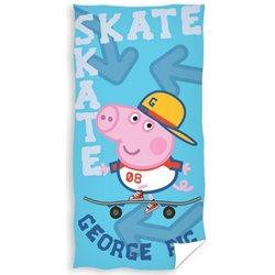 CARBOTEX Osuška Peppa Pig George Skateman 70x140 cm