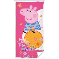 CARBOTEX Osuška Peppa Pig na míči 70x140 cm