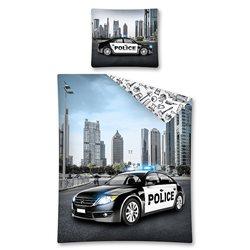 Detexpoil povlečení Policejní auto 140x200, 70x80 cm