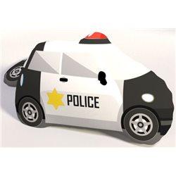 TIPTRADE Polštářek Policejní auto 3D 42x30 cm