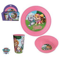 ELI dětská sada plastového nádobí Paw Patrol Pink růžová