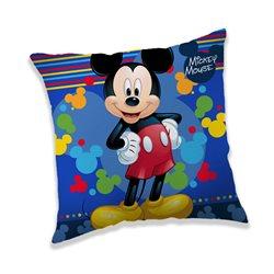 JERRY FABRICS Polštářek Mickey Mouse Blue 40x40 cm