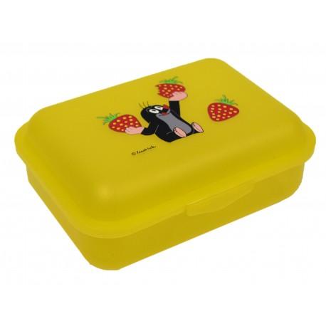 Box na svačinu Krtek a jahody (žlutý)