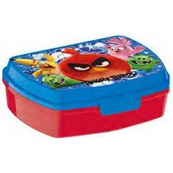 STOR Dětský box na svačinu Angry Birds červený 17x13x5,5 cm