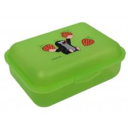 Dětský box na svačinu Krtek a jahody (zelený)