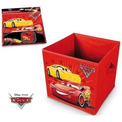 ELI Dětská truhla na hračky Cars 28x28x28 cm
