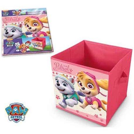 ELI Dětská truhla na hračky Paw Patrol Pink 28x28x28 cm