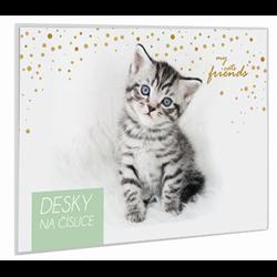 Karton P+P Desky na číslice Kočka 24x18 cm
