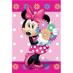 JERRY FABRICS Dětská deka Minnie Flower 100x150 cm