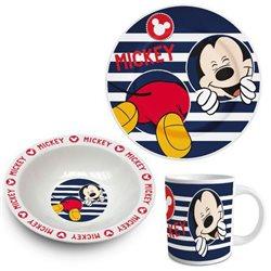 ELI Dětská sada porcelánového nádobí Mickey Mouse 3ks