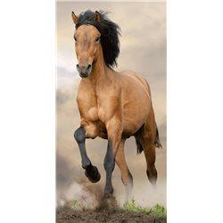 JERRY FABRICS Plážová osuška KŮŇ HORSE BROWN 70x140 cm