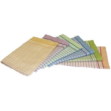 Utěrky bambusové vlákno kostka malá 3ks (oranžová/žlutá)