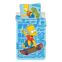 JERRY FABRICS Povlečení Simpsons Bart Blue 02 140x200, 70x90 cm