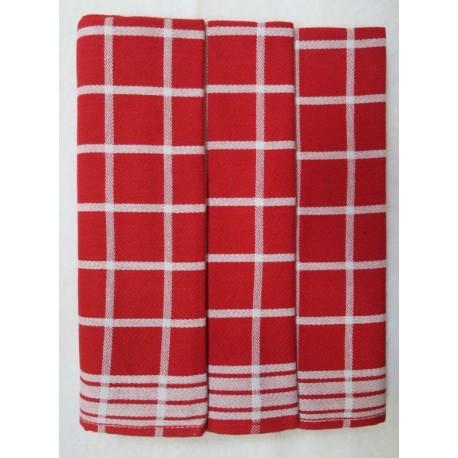 Utěrky z Egyptské bavlny 3ks (červené)