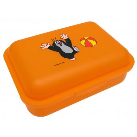 Dětský box na svačinu Krtek a míč (oranžový)