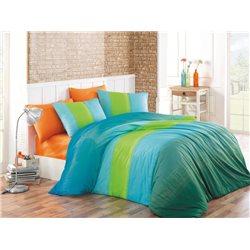 TipTrade Bavlněné povlečení Colorful Modré 140x200, 70x90 cm