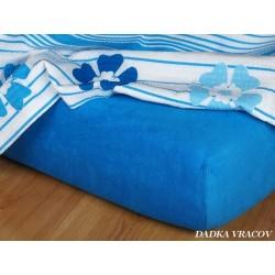 Froté prostěradlo 90x200 cm (královská modř)