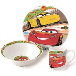 Stor Dětská sada porcelánového nádobí CARS 3 dílná
