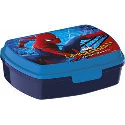 Stor Box na svačinu SPIDERMAN modrý 16x11x5 cm