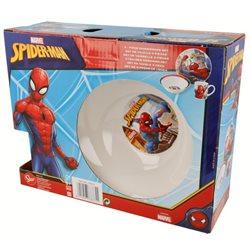 STOR Dětská porcelánová sada nádobí SPIDERMAN 3 dílná