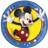 Papírové talíře s oblíbeným myšákem Mickey Mouse, které nesmí chybět na žádné oslavě. Základní vlastnosti:průměr: 19,5 cm. balení obsahuje8 ks talířů. licenční výrobek. vyrobeno v EU.