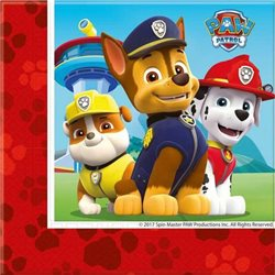 PROCOS Party ubrousky PAW PATROL RED 33x33 cm 20 ks