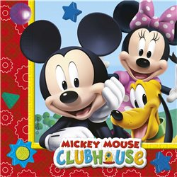 PROCOS Party ubrousky MICKEY MOUSE 33x33 cm 20 ks