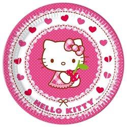 PROCOS Párty papírové talíře Hello Kitty 23 cm 8 ks