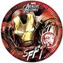Dětské party talíře Avengers 23 cm (8 ks)
