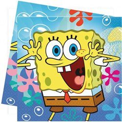 AMSCAN Party ubrousky SPONGEBOB 20 ks