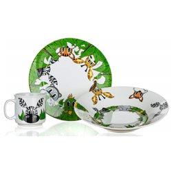 Dětská sada nádobí Kamarádi z džungle (porcelán)