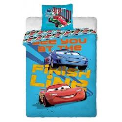 Jerry Fabrics Povlečení Cars 2013 blue bavlna 140x200 70x90