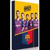 Dětský box na sešity ve formátu A4 s nejznámějšími hráči fotbalového týmu FC Barcelona. Základní vlastnosti:rozměry (šxvxh): 23x32x3,5 cm. na sešity ve formátu A4. zavírání na gumičku. odolný materiál. český výrobek. licenční výrobek.