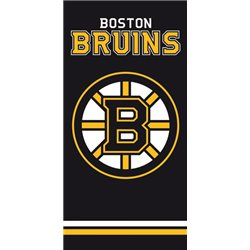 TIPTRADE Bavlněná osuška NHL BOSTON BRUINS BLACK 70x140 cm