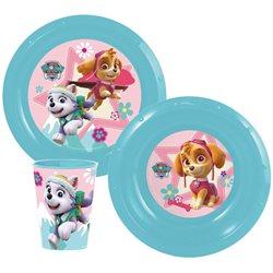 STOR Dětská sada plastového nádobí PAW PATROL GIRL 3 ks