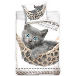 Dětské povlečení Koťátko šedé