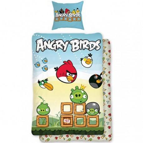 HALANTEX Bavlněné povlečení ANGRY BIRDS BOX 140x200, 70x90 cm