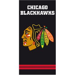 TIPTRADE Bavlněná osuška NHL CHICAGO BLACKHAWKS BLACK 70x140 cm