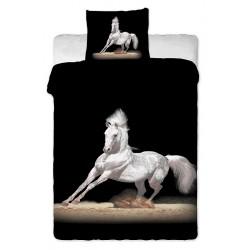 Jerry Fabrics povlečení bavlna Bílý kůň 140x200 70x90
