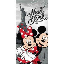 JERRY FABRICS Bavlněná osuška MICKEY MOUSE A MINNIE V NEW YORKU 70x140 cm