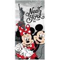 Dětská osuška Mickey Mouse a Minnie v New Yorku