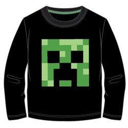 GBG Bavlněné tričko MINECRAFT CREEPER dlouhý rukáv 116 cm