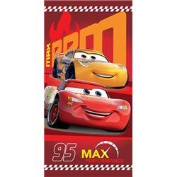 JERRY FABRICS Bavlněná osuška CARS 95 RED 70x140 cm