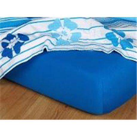 Dadka Jersey prostěradlo EXCLUSIVE královská modř 90x200 cm