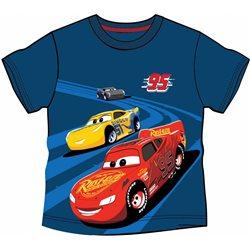 COTTONLAND Bavlněné tričko CARS MODRÉ 122 cm