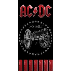 CARBOTEX Bavlněná osuška AC/DC ROCK OR BUST 70x140 cm