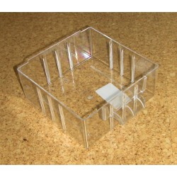 Krabička (zásuvka) typ B - 1 ks (čirý plast)