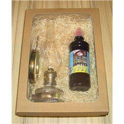 Dárkové balení zrcadlové petrolejové lampy 5''' s čirým olejem 0,5l