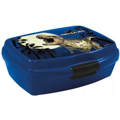 DERFORM Dětský box na svačinu DINOSAURUS T-REX 15x11x6 cm